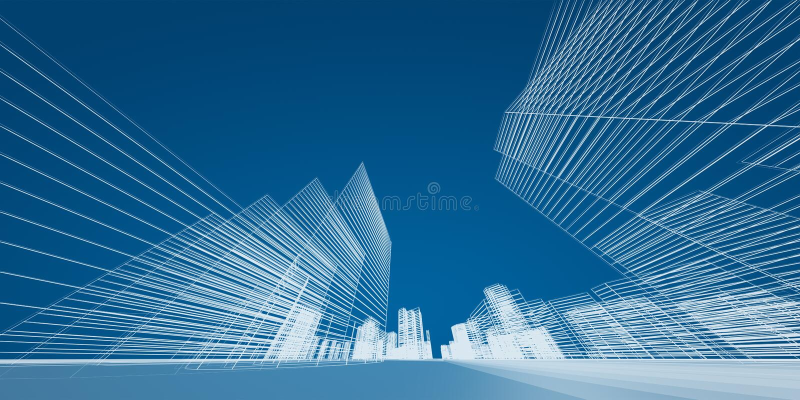 城市概念 库存例证