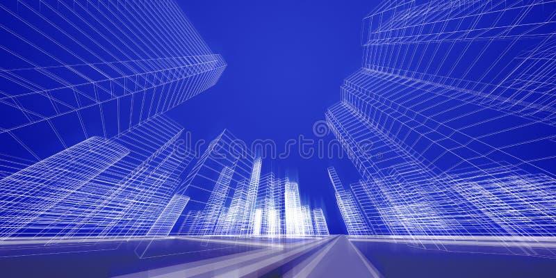 城市概念 皇族释放例证