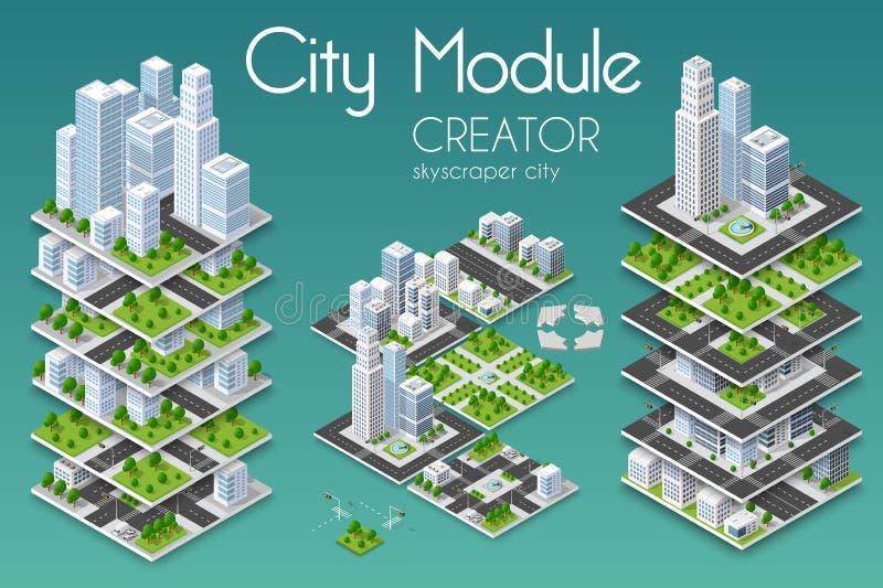 城市模块创作者 库存例证