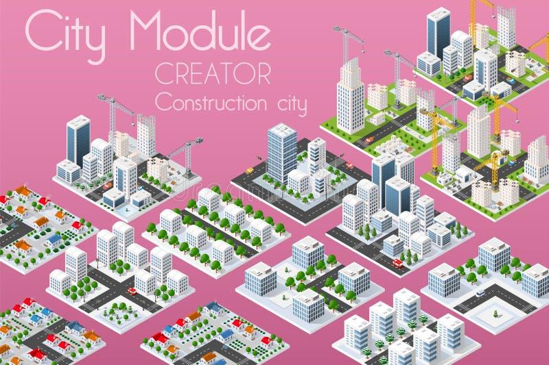 城市模块创作者 向量例证