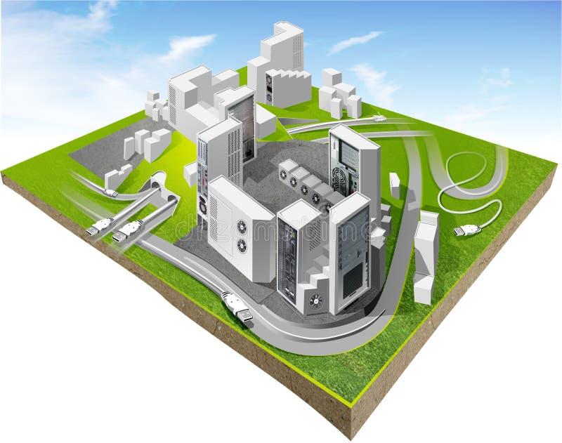 城市模型新 库存例证