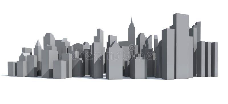 城市模型 皇族释放例证