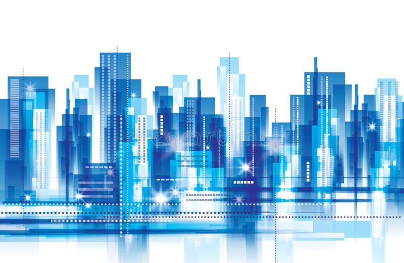 城市横向 向量例证