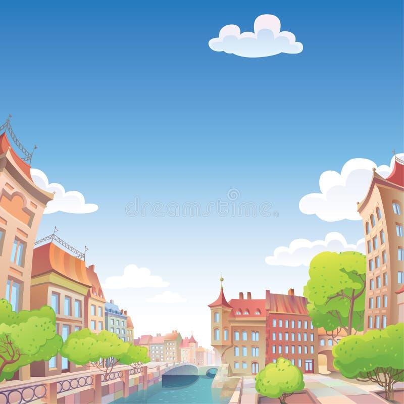 城市欧洲好老 库存例证