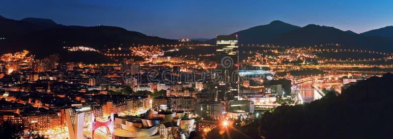城市毕尔巴鄂,西班牙看法 库存照片