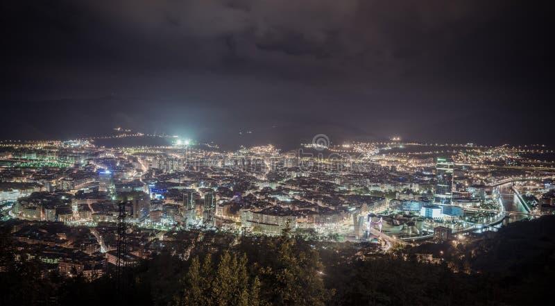 城市毕尔巴鄂,西班牙看法  免版税图库摄影