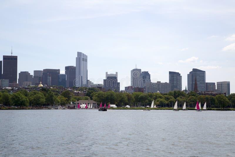城市波士顿地平线 库存图片