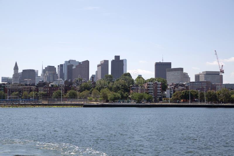 城市波士顿地平线 免版税图库摄影