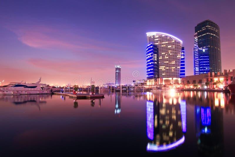 城市洲际迪拜的节日 库存照片