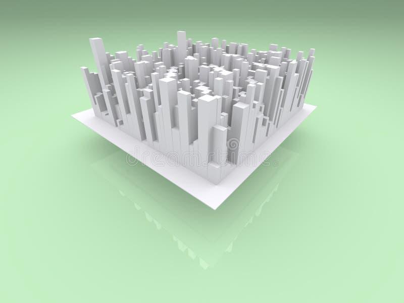 城市海岛 免版税库存图片