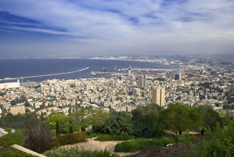 城市海法以色列 库存照片