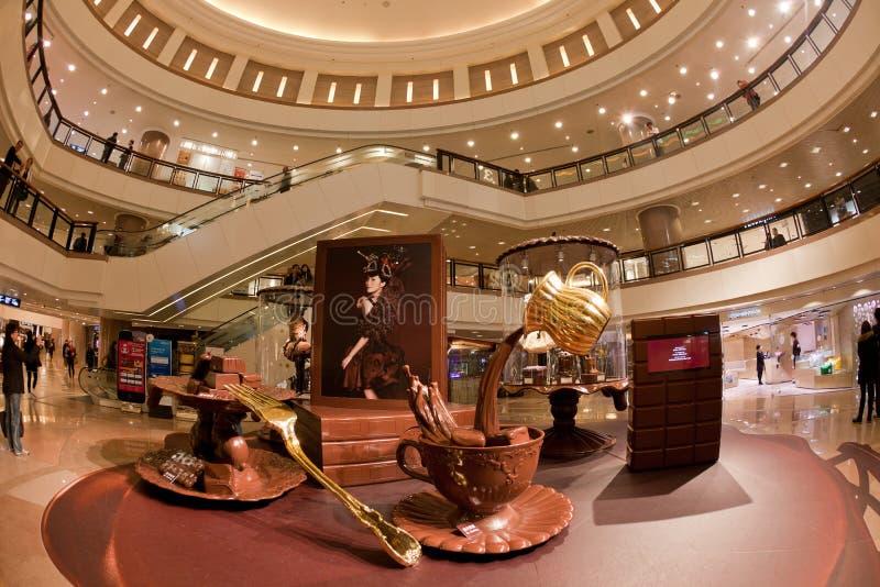 城市港口香港购物中心购物 库存照片