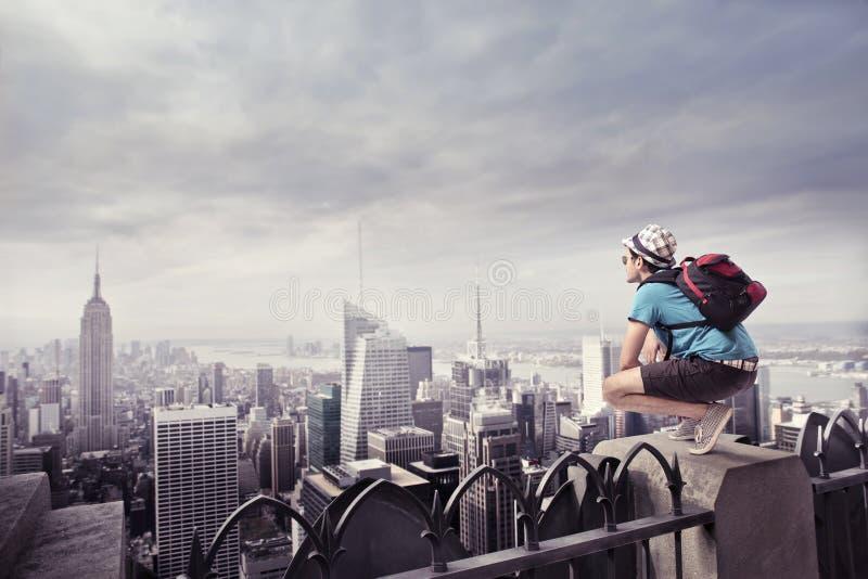 城市游人 免版税库存图片