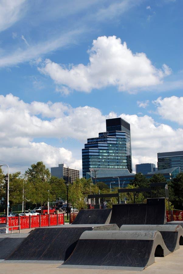 城市滑冰 免版税图库摄影