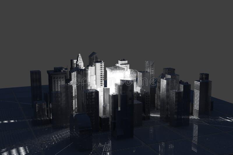 城市滤网新的被回报的空白电汇约克 向量例证
