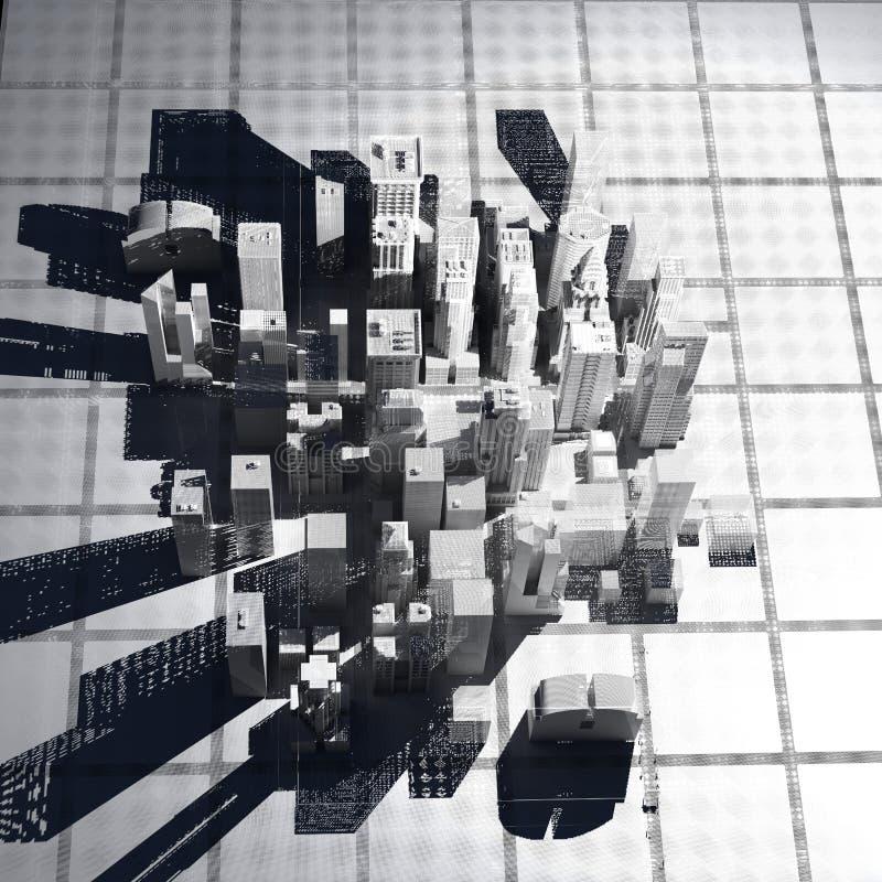 城市滤网新的被回报的空白电汇约克 库存例证