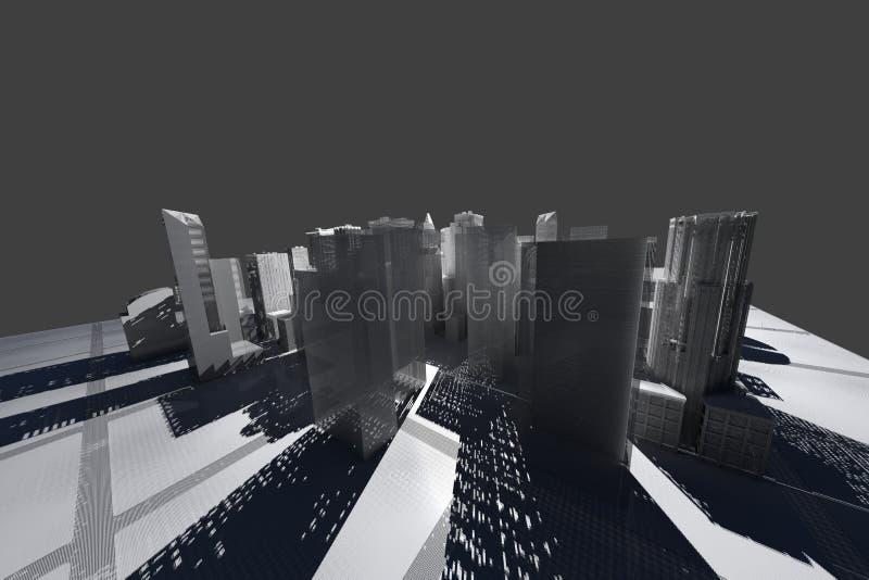 城市滤网新的被回报的空白电汇约克 皇族释放例证