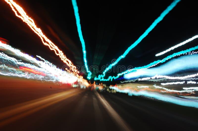 城市点燃晚上 免版税库存图片