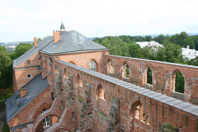 城市爱沙尼亚堡垒tartu 免版税库存图片
