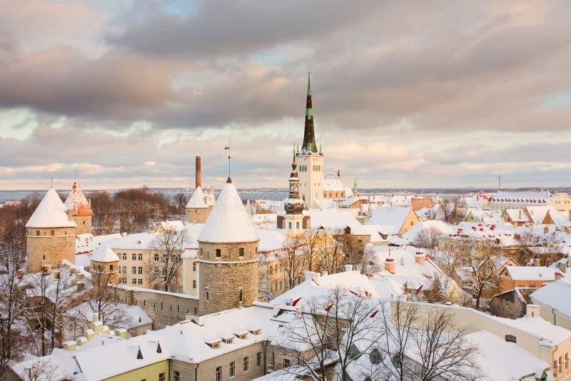城市爱沙尼亚老塔林 免版税库存照片