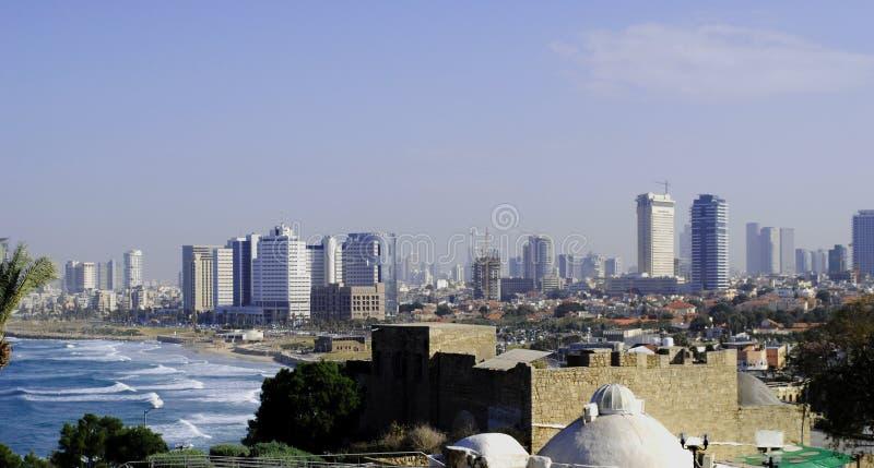 城市特拉维夫,以色列的全景 免版税库存图片