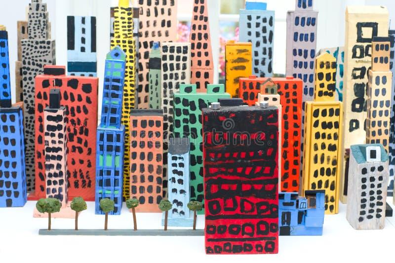 城市玩具 免版税库存图片