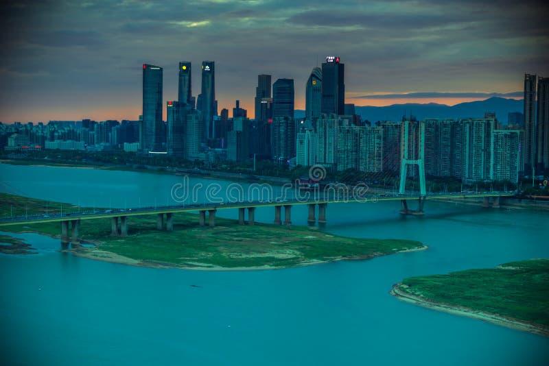 城市现代城市的桥梁角落 图库摄影