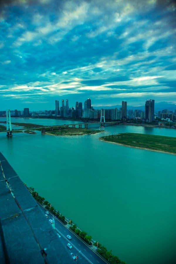 城市现代城市的桥梁角落 库存图片