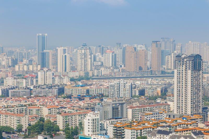 城市现代全景 库存图片