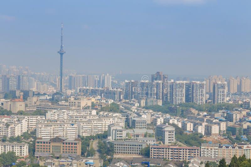 城市现代全景 库存照片