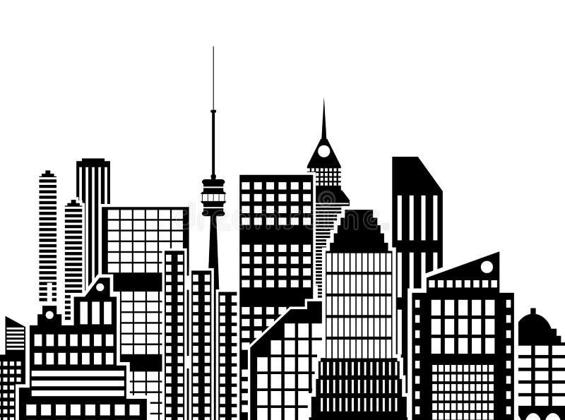 城市现代视图 都市风景 皇族释放例证