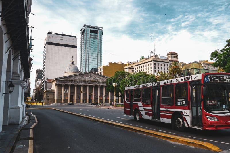 城市生活和街道视图在布宜诺斯艾利斯 免版税库存图片