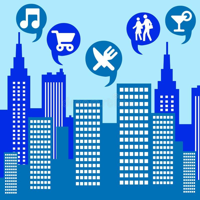 城市生活 向量例证