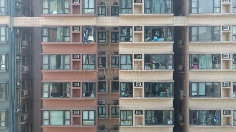 城市生活平的公寓住宅建设 图库摄影