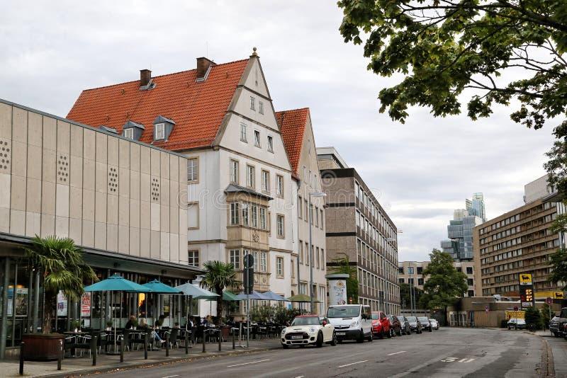 城市的历史大厦的看法 免版税库存照片