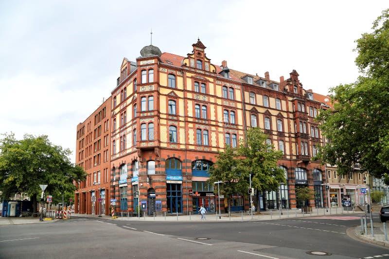 城市的历史大厦的看法 免版税库存图片