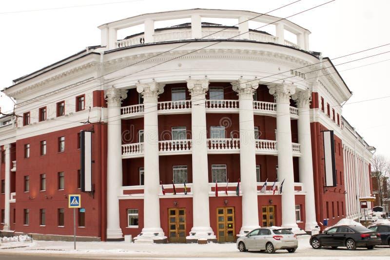 城市的地标是'北'的旅馆的一个美丽的大厦 免版税库存图片
