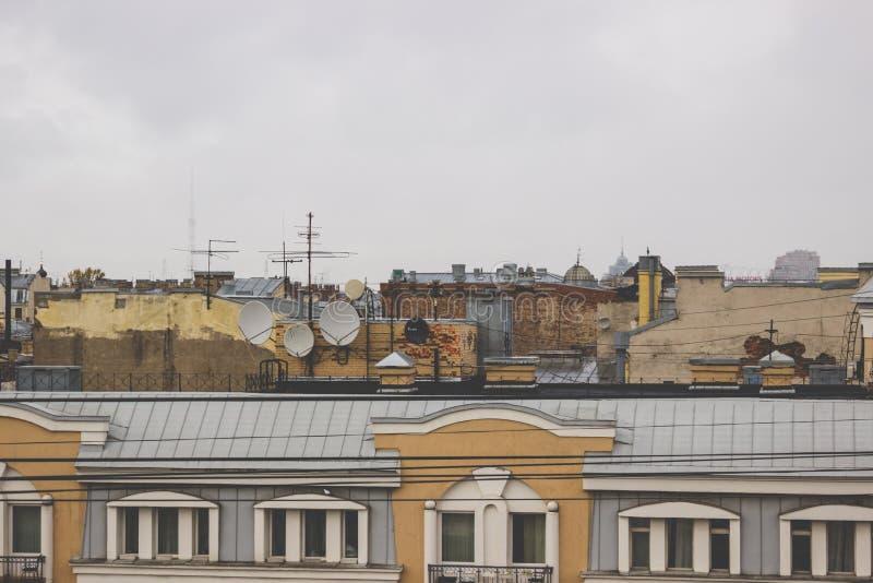 城市的屋顶 库存照片