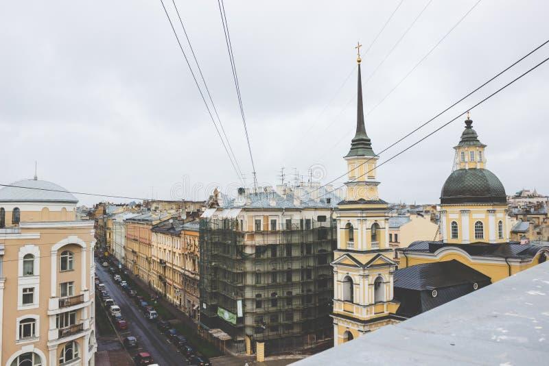城市的屋顶 免版税图库摄影