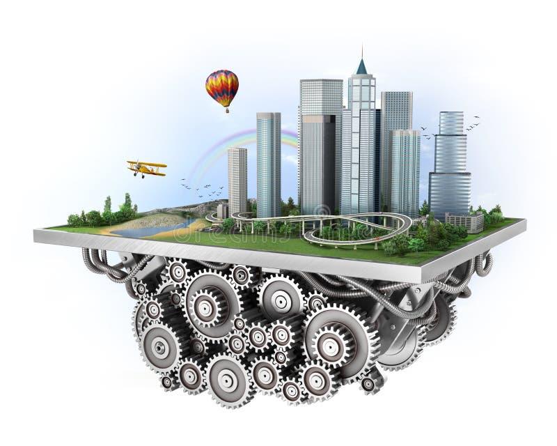 城市的概念 向量例证
