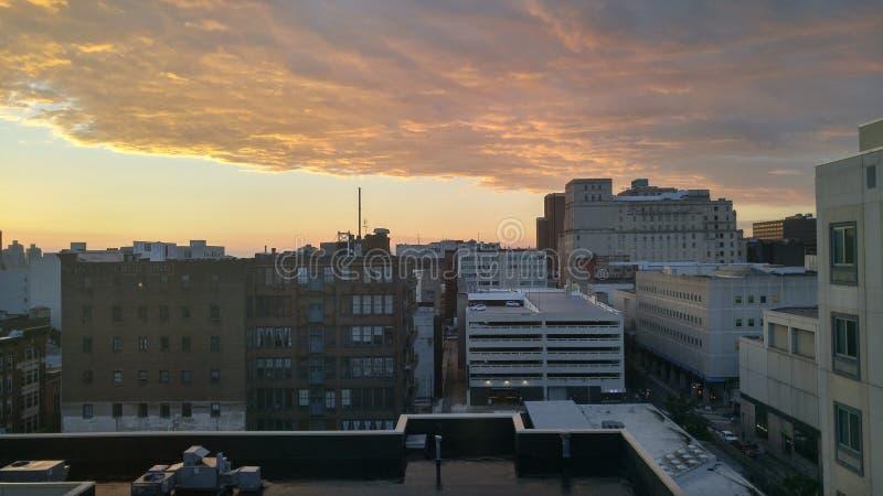城市的看法 库存照片