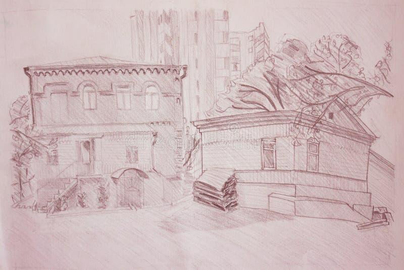 城市的老部分 免版税库存图片