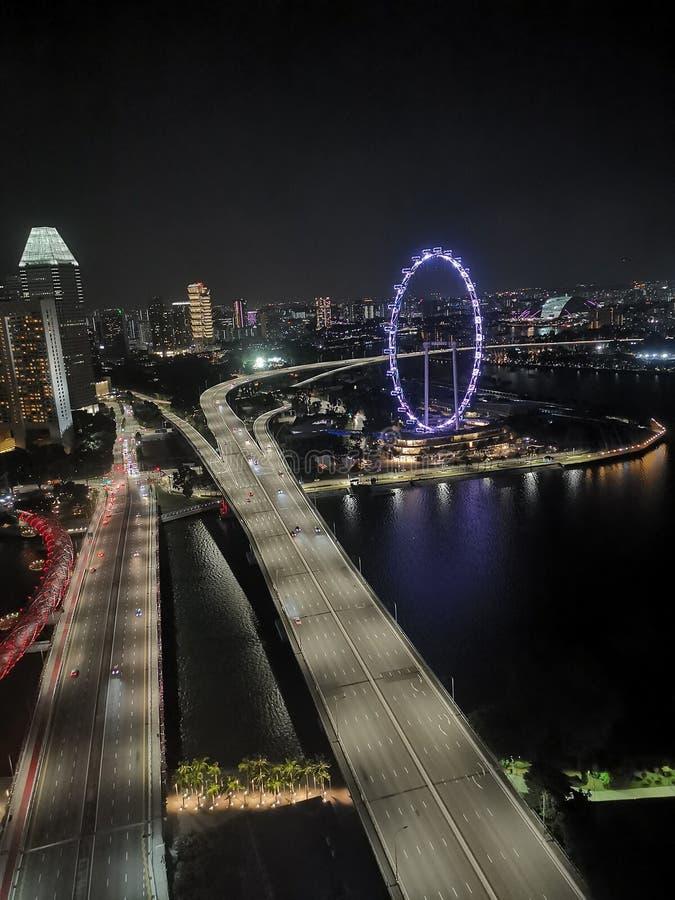 城市的顶视图 图库摄影