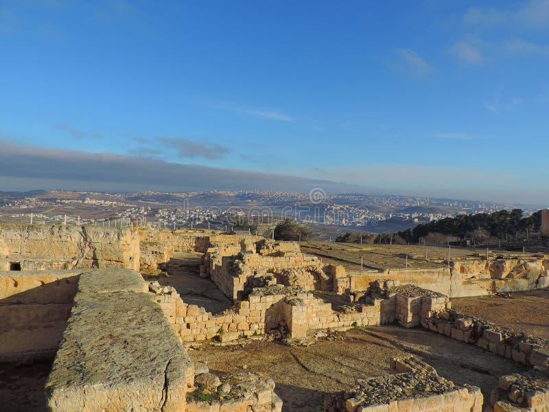 城市的鸟瞰图从撒母耳坟茔的  库存照片