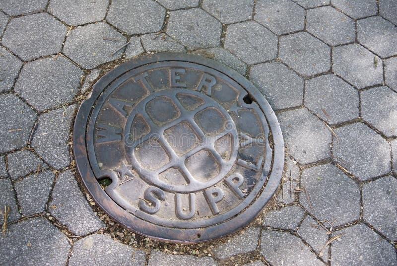 城市盖子出入孔用品水 免版税库存照片