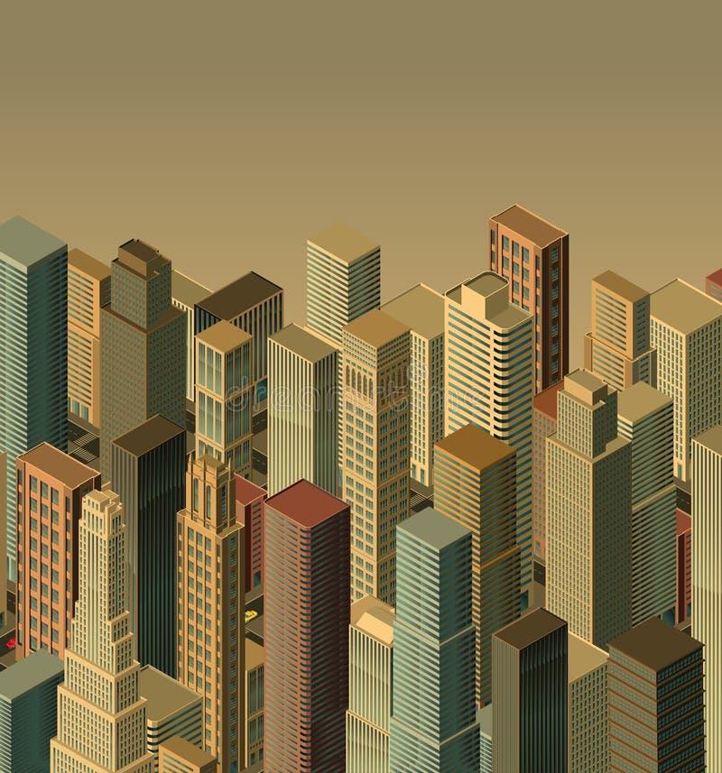 城市等量向量 向量例证