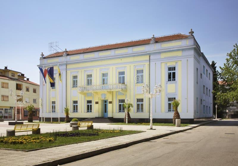 城市管理在Caplina 达成协议波斯尼亚夹子色的greyed黑塞哥维那包括专业的区区映射路径替补被遮蔽的状态周围的领土对都市植被 库存图片