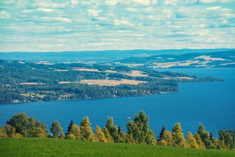 城市约维克,挪威的近处鸟瞰图  免版税库存图片