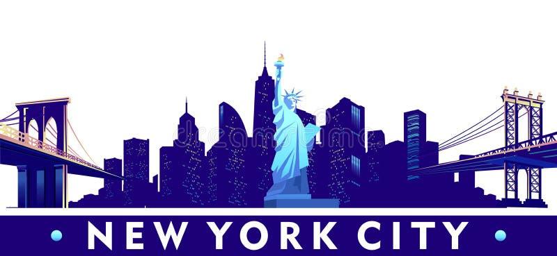 城市纽约 向量例证