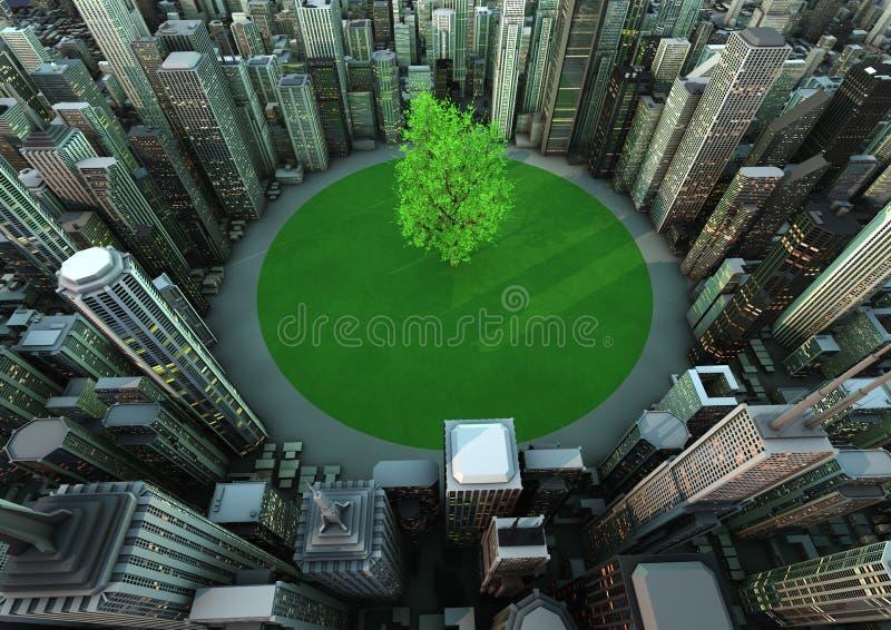 城市结构树 皇族释放例证